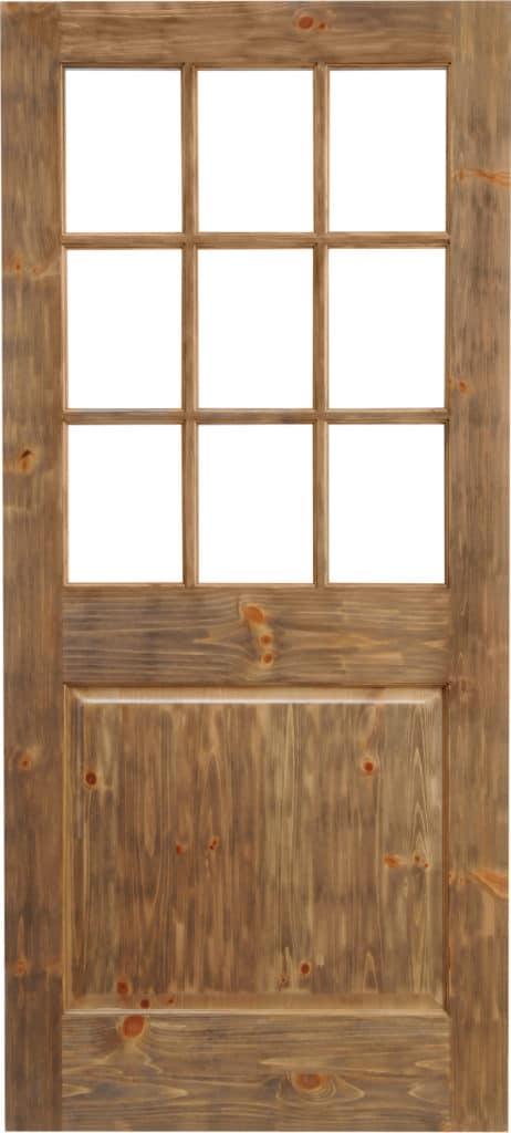 9 LITE 1 PANEL RAISED DOOR, CUSTOM DOOR